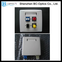 FTTH 4 port SC Wall Fiber Optic Outlet