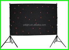 led video cloth/led vision curtain/ video curtain led stage lighting