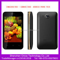 cdma gsm dual sim android smart phone V918 3g cdma gsm mobile phone 4 inch 5050mAh big battery mobile phone