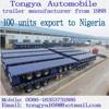 Flatbed Truck Semitrailer Manufacturer Tongya Best-selling 3 Axles Flatbed Semitrailer