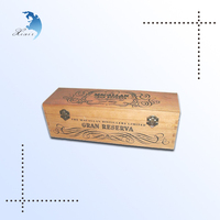 new arrival simple design vintage classic printed wooden decoration wine box