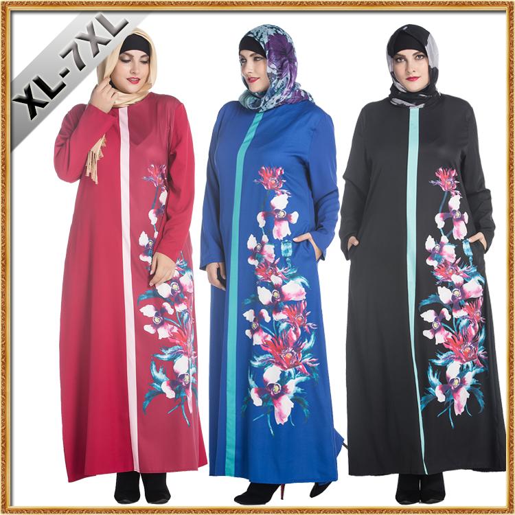 長い女性イスラム教徒ドレスでマレーシアとインドネシア