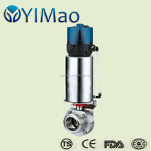 Sanitary butterfly valve Type Ball Valve, food and medical grade stainless steel 316l