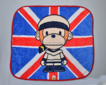 Wholesale Soft Warm Pet Blanket with Monkey PT070