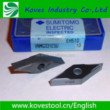 CNC Cemented indexable turning inserts VNMG 331 ESU EH510 for cutting tool