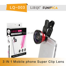Factory price super wide 0.4x lieqi universal 3 in 1 wide angel lens made in china