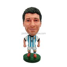 Factory custom make 3d miniature plastic toys footballers,custom famous football player model plastic toys footballers figures