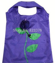 Cute rose flower shape foldable shopping bag