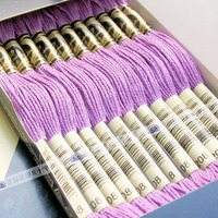 China sewing threads cross stitch box thread cotton sewing threads with 100% cotton