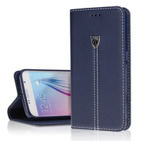 Vintage Galaxy S6 Luxury Genuine Case Wallet Flip Card Slot Mobile Phone Leather Case For Samsung Galaxy S6/ S6 Edge
