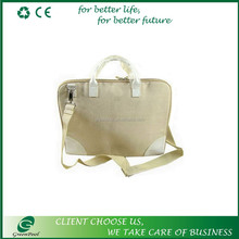 Top quality promotion jute laptop bag