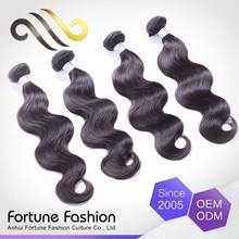 100% unprocessed real huamn hair body wave peruvian hair