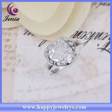 Latest design hot selling good quality 925 silver 925 sterling silver couple lover rings CR273