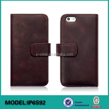 China wholesale magnetic buckle leather wallet case cover for iPhone 6S