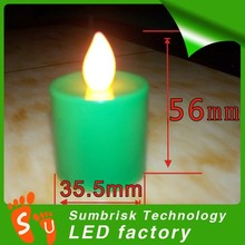 Factory supply high quality colorful illuminating led candle