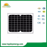 10w 17.5V 0.58A OEM/ODM mono grade A wholesale prices of solar panel made in China