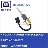 3990772 12v Diesel Engine Fuel Stop Solenoid For Excavator Engine Parts