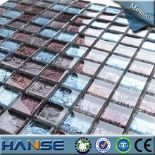 SH106 factory price of natural green stained mosaic tiles for bathroom