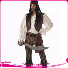 Fancy Halloween Costume Sexy Pirate for Men Cosplay