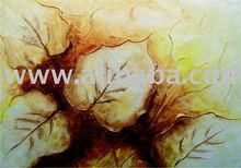 Leaves in texture, acrylic painting, on canvas, handmade , 70x100cm (28x40inc), exclusive brazilian art, Available in various