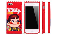 Cute Fujiya Milky Wrapper-Style For iPhone 4/4s/5/5s/6/6plus Peko-Chan Candy Case New