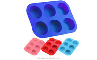 silicone cake box 6 cup cake cupcake muffin baking mould tray
