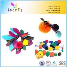 Metallic color pompoms with width 5cm