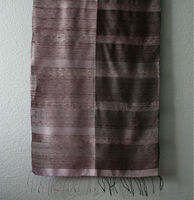Laos Silk Plaid Scarf - Purple