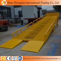 jinan zhongtian 8T Mobile yard ramp, portable yard ramp dock leveller leveler,mobille ramp for Container Warehouse