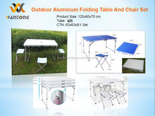 Outdoor Aluminium Folding Table And Chair Set