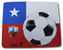 custom World Cup Soccer printed blue and white stripe rubber computer mouse pad