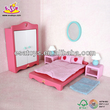 2015 New kids wooden doll furniture set,popular children Wooden doll furniture set ,baby wooden toy bedroom set WJ277997