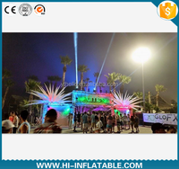 fascinating outdoor performance stage inflatable star with LED lights