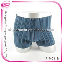 Low price 100 polyester boxers for men(P-M011B)