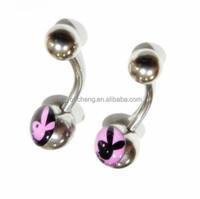 Playboy Piercing Navel Ring