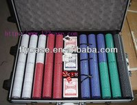 2013 new design aluminium chips case , poker set ,playing cards set ,1000 holds set with trolley