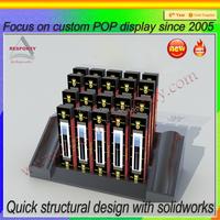 Black acrylic material custom made e-liquid display rack