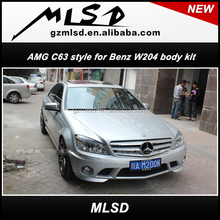auto tuning C63 style bumpers for Mercedes Ben C-class W204 body kit