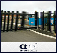 Galvanised and coloful pvc green palisade fence