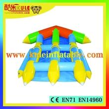 2015 inflatable flying fish banana boat,floating water games,outdoor inflatable water games for water sport
