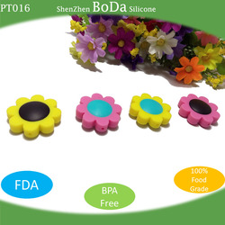 Food Grade Silicone Teething bead Necklace silicone pendant for baby PT016