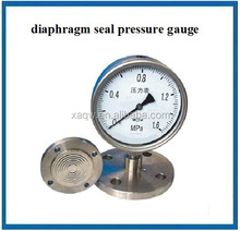 Bourdon tube sanitary diaphragm pressure gauge with diaphragm seal