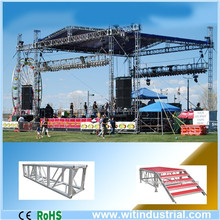 outdoor stage aluminum roof truss with PA tower