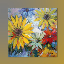 Wholesale Hot Selling Most Popular High Quality Modern Handmade Flower Oil Painting