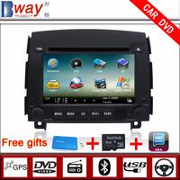 Bway In Dash 2 din Car audio player for HYUNDAI sonata NF 2008 CAR DVD with GPS Navigation car Radio Bluetooth