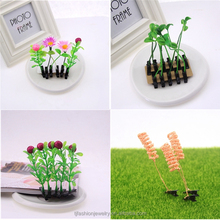 2015 new design hot selling cute girls glass hair clip Bean sprouts flowers hairpins for girls/