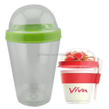 BPA Free Vegetable And Fruit Plastic Salad Shaker Cup