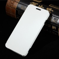 Metalik Flip Smart Cover Wake Sleep Function Leather Case For Lenovo A806