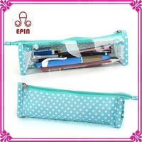 High quality clear plastic pencil case with zipper