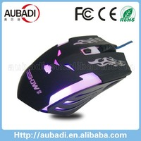 custom logo 6d game led flashing 7 colours optical wired mouse